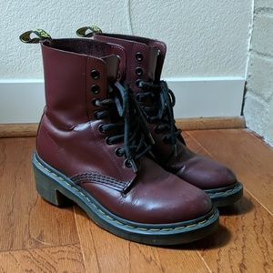 Dr. Martens 1460 COMBAT BOOTS CHERRY RED/burgundy